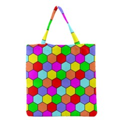 Hexagonal Tiling Grocery Tote Bag