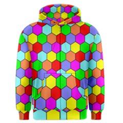 Hexagonal Tiling Men s Zipper Hoodie