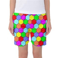 Hexagonal Tiling Women s Basketball Shorts