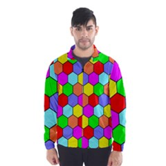Hexagonal Tiling Wind Breaker (Men)