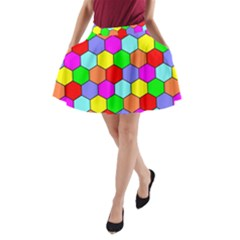 Hexagonal Tiling A-Line Pocket Skirt