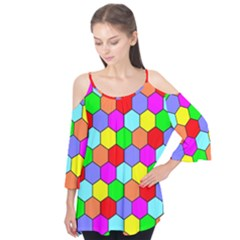 Hexagonal Tiling Flutter Tees