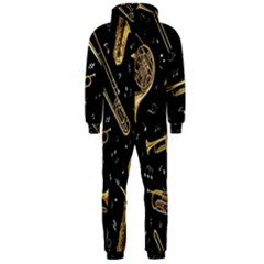 Instrument Saxophone Jazz Hooded Jumpsuit (Men)
