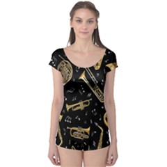 Instrument Saxophone Jazz Boyleg Leotard