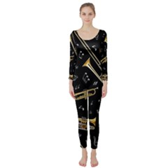 Instrument Saxophone Jazz Long Sleeve Catsuit