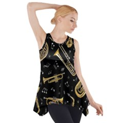Instrument Saxophone Jazz Side Drop Tank Tunic