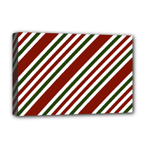 Line Christmas Stripes Deluxe Canvas 18  x 12