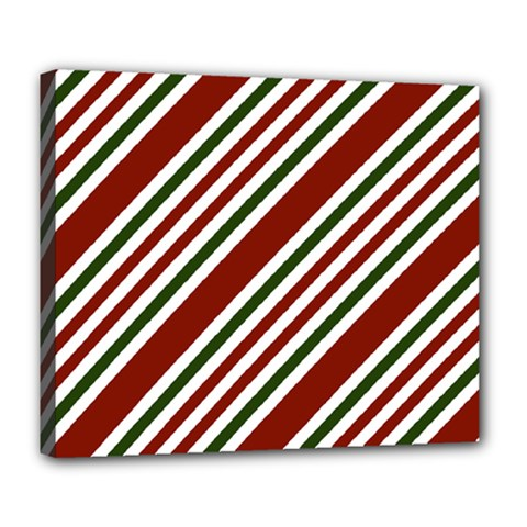 Line Christmas Stripes Deluxe Canvas 24  x 20