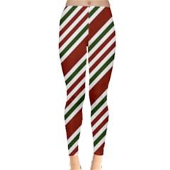 Line Christmas Stripes Leggings