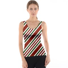 Line Christmas Stripes Tank Top