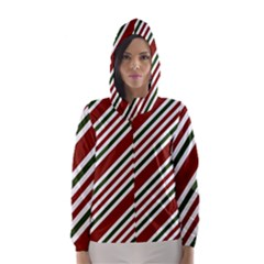 Line Christmas Stripes Hooded Wind Breaker (Women)