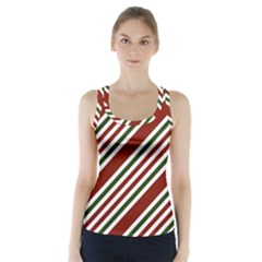 Line Christmas Stripes Racer Back Sports Top