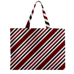 Line Christmas Stripes Medium Tote Bag