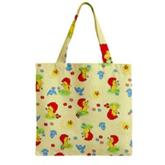 Lion Animals Sun Zipper Grocery Tote Bag