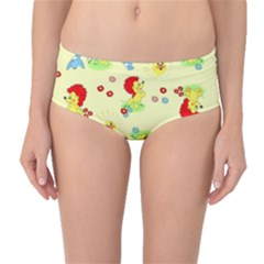 Lion Animals Sun Mid-Waist Bikini Bottoms