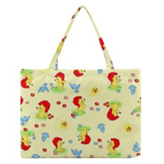 Lion Animals Sun Medium Zipper Tote Bag