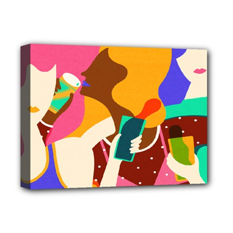 Girl Colorful Copy Deluxe Canvas 16  x 12
