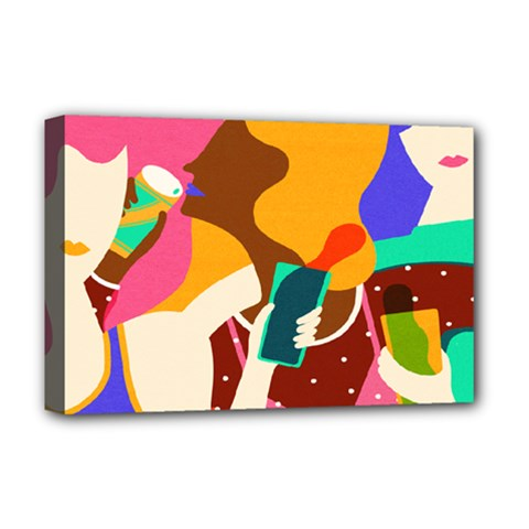 Girl Colorful Copy Deluxe Canvas 18  x 12