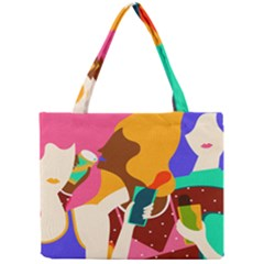 Girl Colorful Copy Mini Tote Bag