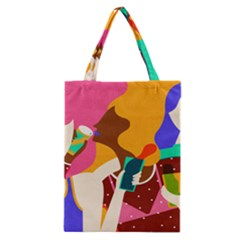 Girl Colorful Copy Classic Tote Bag