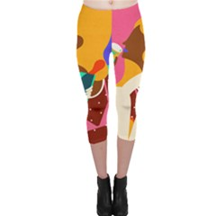 Girl Colorful Copy Capri Leggings
