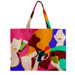 Girl Colorful Copy Zipper Mini Tote Bag