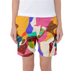 Girl Colorful Copy Women s Basketball Shorts