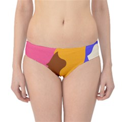 Girl Colorful Copy Hipster Bikini Bottoms