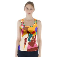 Girl Colorful Copy Racer Back Sports Top