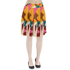 Girl Colorful Copy Pleated Skirt