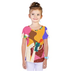 Girl Colorful Copy Kids  One Piece Tee