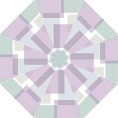 Abstract Background Pattern Design Hook Handle Umbrellas (Medium)