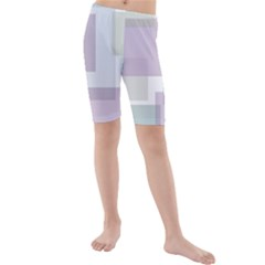 Abstract Background Pattern Design Kids  Mid Length Swim Shorts