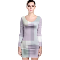 Abstract Background Pattern Design Long Sleeve Bodycon Dress
