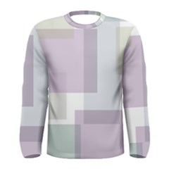 Abstract Background Pattern Design Men s Long Sleeve Tee