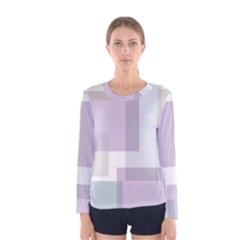 Abstract Background Pattern Design Women s Long Sleeve Tee