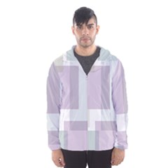 Abstract Background Pattern Design Hooded Wind Breaker (Men)