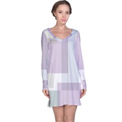 Abstract Background Pattern Design Long Sleeve Nightdress