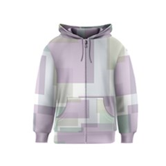 Abstract Background Pattern Design Kids  Zipper Hoodie