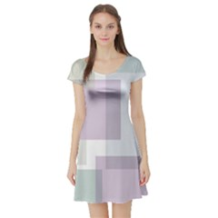 Abstract Background Pattern Design Short Sleeve Skater Dress