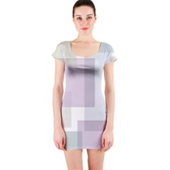 Abstract Background Pattern Design Short Sleeve Bodycon Dress
