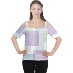 Abstract Background Pattern Design Women s Cutout Shoulder Tee