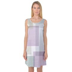 Abstract Background Pattern Design Sleeveless Satin Nightdress
