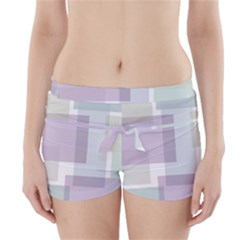 Abstract Background Pattern Design Boyleg Bikini Wrap Bottoms