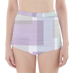 Abstract Background Pattern Design High-Waisted Bikini Bottoms