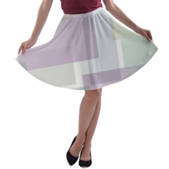 Abstract Background Pattern Design A-line Skater Skirt