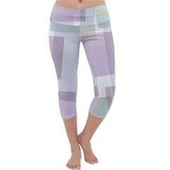 Abstract Background Pattern Design Capri Yoga Leggings