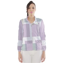 Abstract Background Pattern Design Wind Breaker (Women)