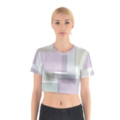Abstract Background Pattern Design Cotton Crop Top
