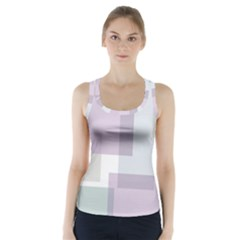 Abstract Background Pattern Design Racer Back Sports Top
